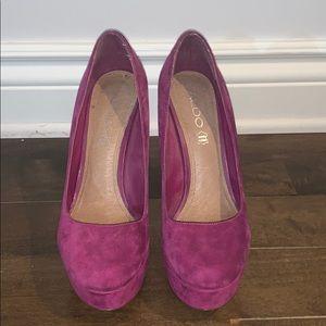 Aldo pink pump heels